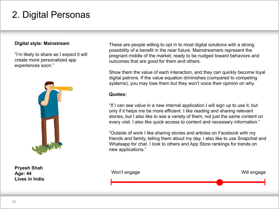 Application Digital Hub Persona Description